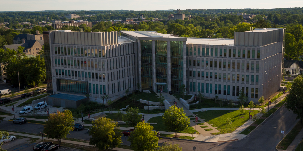 Luddy Hall as seen from above