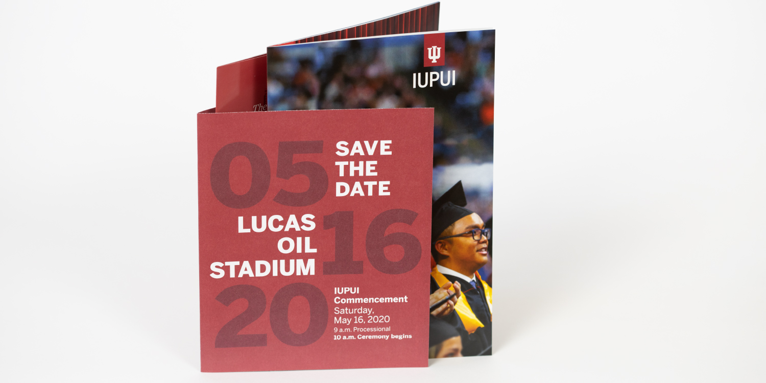 IUPUI commencement mailer items