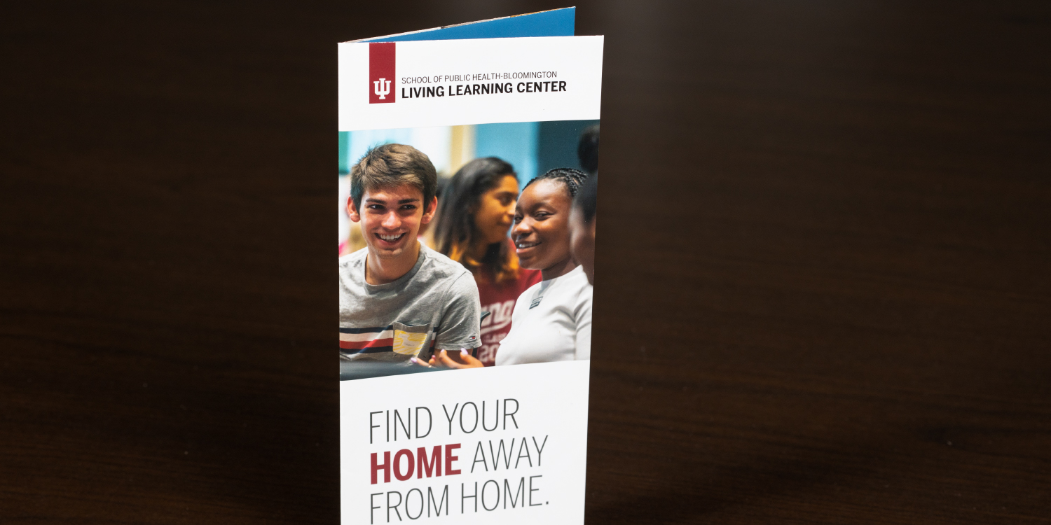 """Living Learning Center brochure titled """"Your home away from home."""""""